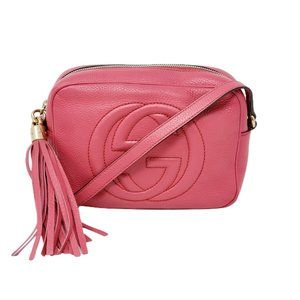 Auth Gucci Disco Soho Camera Crossbody Bag